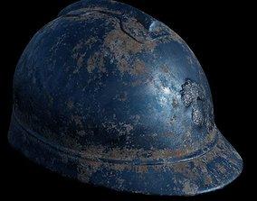3D asset WW1 French Helmet