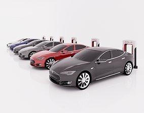 VR / AR ready Tesla Revit Family Parametric Models with 1