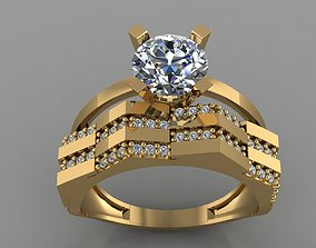 GC GOLD TW0154- Diamond ring 3D print model