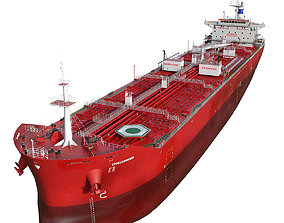 Oil Products Tanker red hquality 3D model