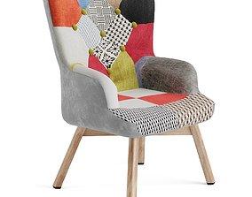 Armchair patchwork 3D