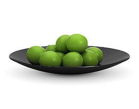 3D model Limes in a black bowl