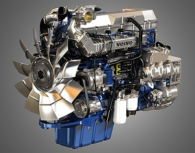 3D model Volvo D13 Truck Engine vehicle
