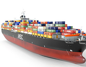 3D model Container ship MSC