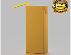 Tetra pak juice pack 3D model