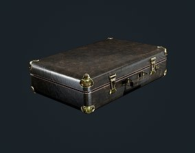 3D asset Leather Suitcase Luggage Game Ready