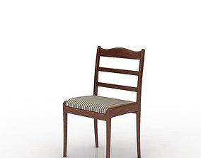 cushion Classic Wooden Chair 3D model