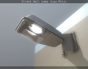 3D model Street Wall Lamp Low-Poly Version
