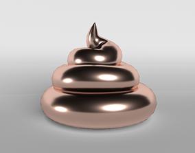 3D asset Pile of Poo v1 007