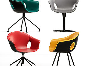 3D model Poltrona Frau Ginger Ale desk Chair