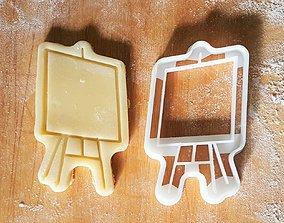 3D print model Easel cookie cutter