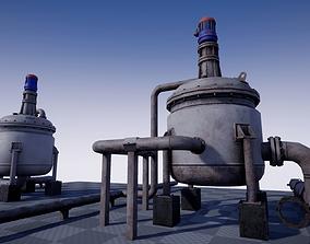 Industrial Agitated Reactor PBR 3D model