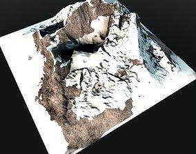 Rocky Mountain Range Peak 2 Low Poly 3D asset game-ready
