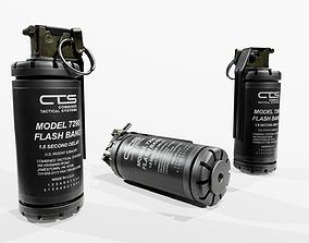 CTS 7290 Flash Bang Grenade 3D asset