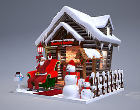 Santas Grotto Christmas Decoration 3D model