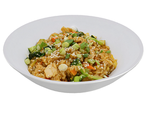 3D asset TERIYAKI CHICKEN RICE BOWL