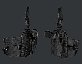 3D asset Military Police Gun Holster Game Ready 02