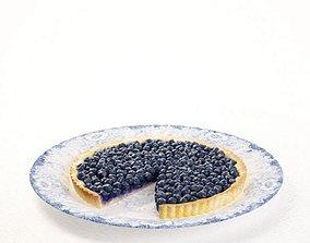 3D Blueberry Pie Dish