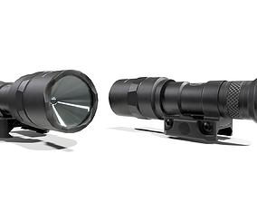 3D model Surefire M300C Compact LED Scout Rifle Weapon 1