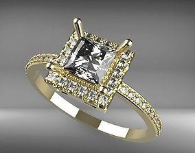 RING DIAMONDS GOLD FASHION SOLITER 3D print model