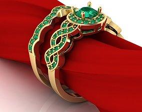 3D printable model Vintage luxury pair of engagement ring
