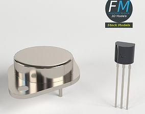 Transistors 3D model game-ready