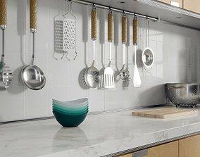 Kitchen Bowls 3D model