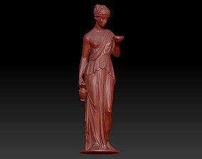 3D printable model sculptures Ancient women with bowel