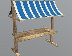 Booth 3D asset