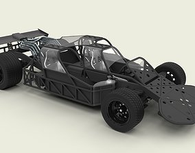 Flip car from the movie Fast 6 3D model
