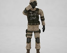 3D model Game Soldier