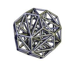 3D print model lattice ball A