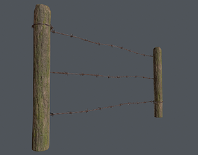 Wood Fence 02 3D model VR / AR ready