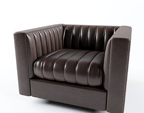 3D model Bright Gray Lounge Chair