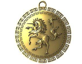 unicorn 3D print model Unicorn pendant
