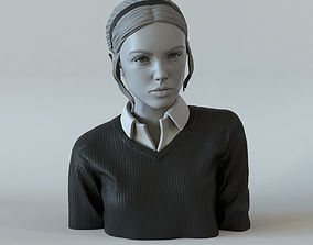 3D printable model Portrait of a girl with a ponytail 1