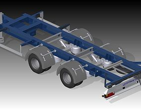 3D model Low trailer for commercial vehicle