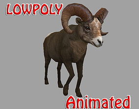 3D model Bighorn Lowpoly Animated