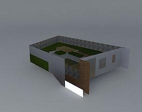 3D model A contemporary garden design