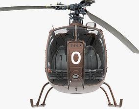 Sud-Aviation Gazelle 3D asset