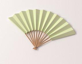 Paper Hand Fan 3D