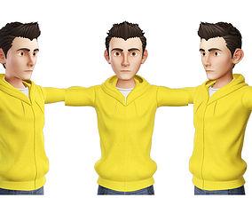 3D Teens Boy Yellow