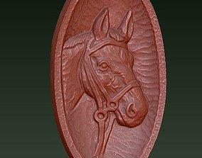 3D print model Horse Relief Plaque