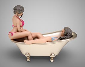 3D printable model Bathing Girls