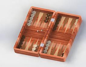 3D model Wood Backgammon