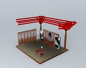 A Study Room in Chinese Style 3D model