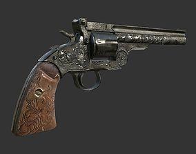 Revolver Gun 3D asset