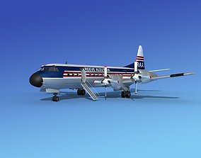 L-188 Electra Reeve Aleutian Airways 3D