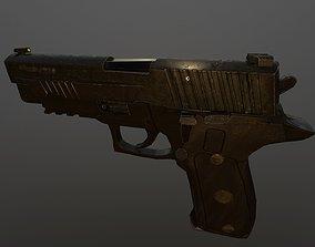 Worn out P226 Legion 3D model low-poly
