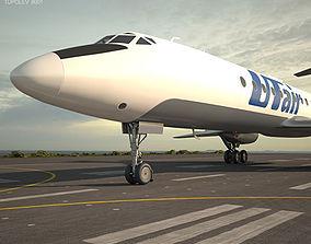 3D model Tupolev Tu-134